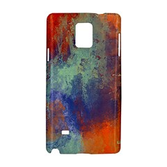 Abstract in Green, Orange, and Blue Samsung Galaxy Note 4 Hardshell Case