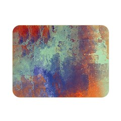 Abstract in Green, Orange, and Blue Double Sided Flano Blanket (Mini)