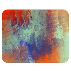 Abstract In Green, Orange, And Blue Double Sided Flano Blanket (medium)