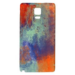 Abstract in Green, Orange, and Blue Galaxy Note 4 Back Case