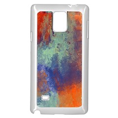 Abstract in Green, Orange, and Blue Samsung Galaxy Note 4 Case (White)