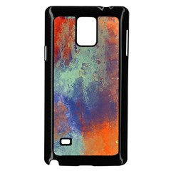 Abstract In Green, Orange, And Blue Samsung Galaxy Note 4 Case (black)