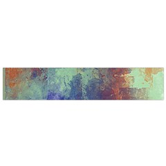 Abstract In Green, Orange, And Blue Flano Scarf (small)