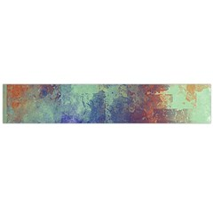 Abstract in Green, Orange, and Blue Flano Scarf (Large)