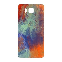 Abstract in Green, Orange, and Blue Samsung Galaxy Alpha Hardshell Back Case