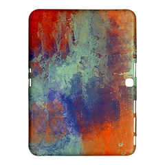 Abstract in Green, Orange, and Blue Samsung Galaxy Tab 4 (10.1 ) Hardshell Case