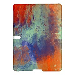 Abstract in Green, Orange, and Blue Samsung Galaxy Tab S (10.5 ) Hardshell Case