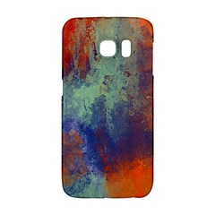 Abstract In Green, Orange, And Blue Galaxy S6 Edge