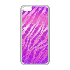 Florescent Pink Zebra Pattern  Apple Iphone 5c Seamless Case (white)