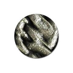 Brilliant Metal 5 Magnet 3  (round)