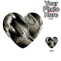 Brilliant Metal 5 Multi Purpose Cards (heart)