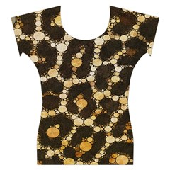 Crazy Beautiful Abstract Cheetah Abstract  Women s Cap Sleeve Top