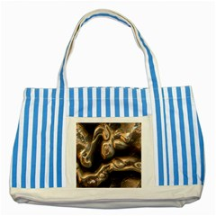 Brilliant Metal 4 Striped Blue Tote Bag