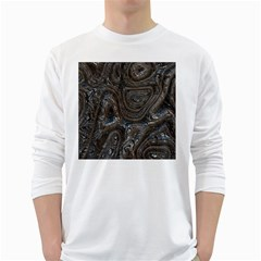 Brilliant Metal 2 White Long Sleeve T-Shirts