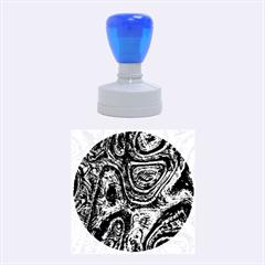 Brilliant Metal 2 Rubber Round Stamps (Medium)