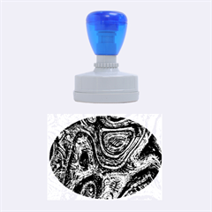 Brilliant Metal 2 Rubber Oval Stamps