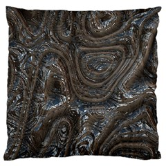 Brilliant Metal 2 Large Flano Cushion Cases (one Side)