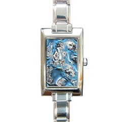 Metal Art 11, Blue Rectangle Italian Charm Watches
