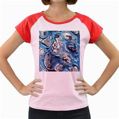Metal Art 11, Blue Women s Cap Sleeve T Shirt