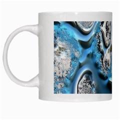 Metal Art 11, Blue White Mugs