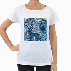 Metal Art 11, Blue Women s Loose Fit T Shirt (white)