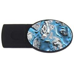 Metal Art 11, Blue Usb Flash Drive Oval (4 Gb)