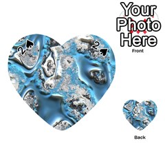 Metal Art 11, Blue Playing Cards 54 (Heart)