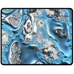 Metal Art 11, Blue Fleece Blanket (Medium)