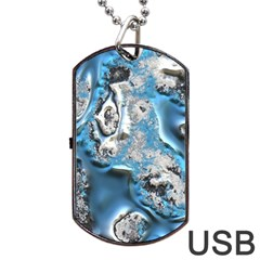Metal Art 11, Blue Dog Tag USB Flash (Two Sides)