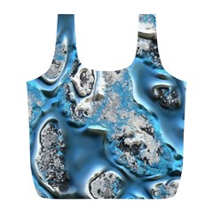 Metal Art 11, Blue Full Print Recycle Bags (l)