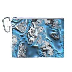 Metal Art 11, Blue Canvas Cosmetic Bag (L)