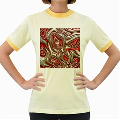 Metal Art 9 Red Women s Fitted Ringer T-Shirts