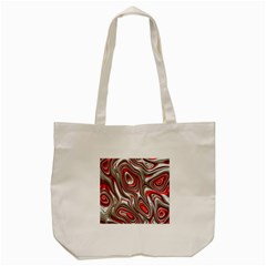 Metal Art 9 Red Tote Bag (Cream)