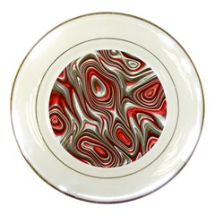 Metal Art 9 Red Porcelain Plates