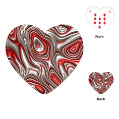 Metal Art 9 Red Playing Cards (Heart)