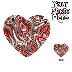 Metal Art 9 Red Playing Cards 54 (Heart)