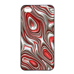 Metal Art 9 Red Apple iPhone 4/4s Seamless Case (Black)