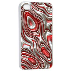 Metal Art 9 Red Apple iPhone 4/4s Seamless Case (White)