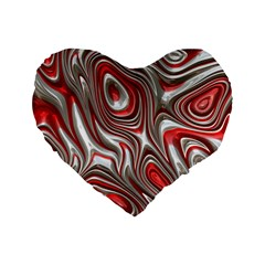 Metal Art 9 Red Standard 16  Premium Flano Heart Shape Cushions