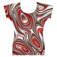 Metal Art 9 Red Women s Cap Sleeve Top