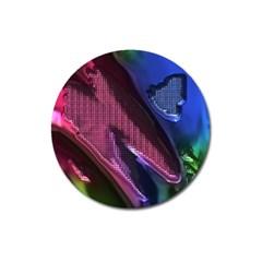 Colorful Broken Metal Magnet 3  (round)