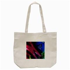 Colorful Broken Metal Tote Bag (Cream)