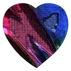 Colorful Broken Metal Jigsaw Puzzle (heart)