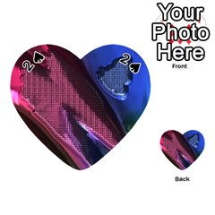 Colorful Broken Metal Playing Cards 54 (Heart)