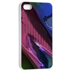 Colorful Broken Metal Apple Iphone 4/4s Seamless Case (white)