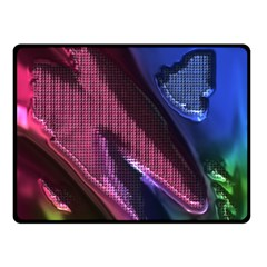 Colorful Broken Metal Double Sided Fleece Blanket (Small)