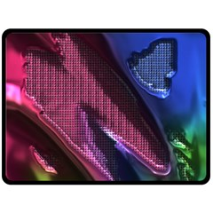 Colorful Broken Metal Double Sided Fleece Blanket (Large)