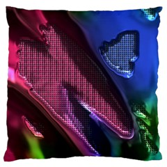 Colorful Broken Metal Large Flano Cushion Cases (one Side)