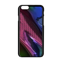 Colorful Broken Metal Apple Iphone 6 Black Enamel Case
