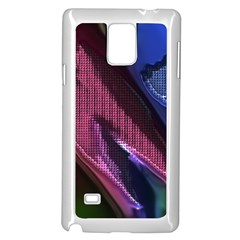 Colorful Broken Metal Samsung Galaxy Note 4 Case (White)